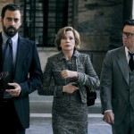 (l to r) Andrea Piedimonte Bodini, Michelle Williams and Mark Wahlberg in TriStar Pictures' ALL THE MONEY IN THE WORLD.